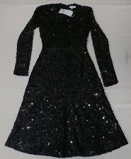 Warehouse Women's Sequin Flippy Dress Black GG8 Size UK:6 US:2 NWT