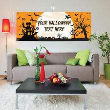 5ft Giant Haunted House HALLOWEEN Personalised Plastic Sign Banner Decoration