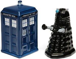 Doctor Who TARDIS vs Dalek Salt and Pepper Shaker