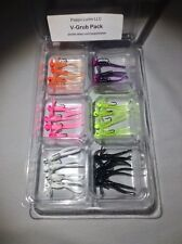 V-Grub Pack - 24 Jigs - 6 Colors - 1/32 oz. Jig - #8 Hook