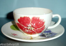 Gien Jacinthe Tea Cup & Saucer French Faience New