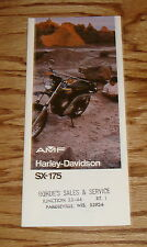Original 1974 Harley-Davidson SX-175 Motorcycle Foldout Sales Brochure AMF 74