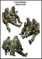1/35 US Marines in Vietnam War soldiers scale model 2 figures/kit