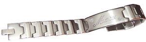 Edelstahl Armkette Armband mit Name Gravur Schilderarmband Schmuck Damen Herrn