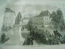 The War French prisoner int he place turenne at Sedan Gravure Antique Print 1870