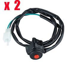 2x Motorcycle Kill Off Stop Switch Start Horn Button Wires for ATV Dirt Pro Bike