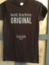 Fredericks Of Hollywood Black Tee Shirt Bold Fearless Original Jr Sz Small New