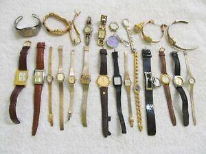 Lot 24 Vintage Modern Womens Quartz Wristwatches Untested