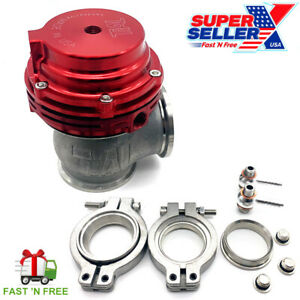 MVS 38mm External Turbo Wastegate Red - Fits Tial Springs & Flange - 22PSI USA!