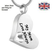 Mum Love Always Cremation Urn Pendant Ashes Necklace Funeral Memorial Jewellery