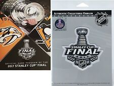 2017 STANLEY CUP FINAL PROGRAM & PATCH PITTSBURGH PENGUINS NASHVILLE PREDATORS