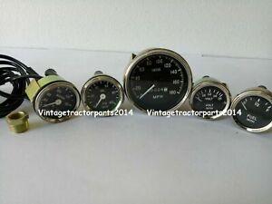 Smiths 52mm Kit Temp Oil Fuel Amp Gauge Speedometer Replica 85 mm