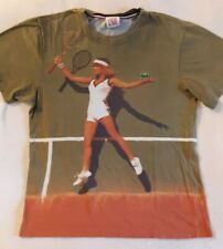 Rare Lacoste Live t shirt Vintage Female Tennis player Collector Hard To Find