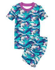 Gymboree NWT Gymmies Camo Surfer Shortie Pajama Set Size 6-12 months