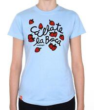 T-shirt femme col rond imprimé taille M Callate la Boca