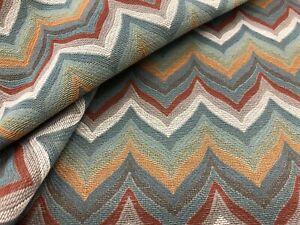 Thibaut Bargello Zig Zag Chevron Weave Fabric- Miura / Cinnabar 1.80 yd W735337