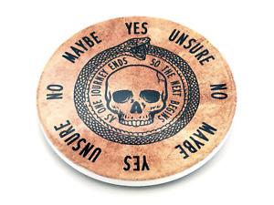 Ceramic Pendulum Board with Ouroboros Circle of Life Design, For Reiki, Dowsing