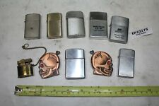 TEN lighters Zippo skull Aircraft Castings Burton Zeus Ronson Rogers old EP23175