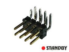 20pcs PCB Pin Header 2.54mm double row, angled 8 PIN PRECI-DIP 892-19-008-20-902