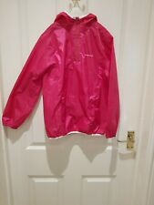 Quechua girls Pink Hooded Raincoat Age 7-8years
