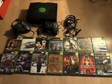 Microsoft Xbox Classic Konsole + 14 Spiele + 2 Controller. Komplett. Megapaket!