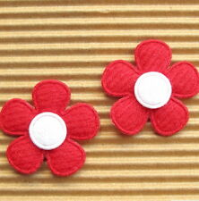 "US SELLER - 60 pc x 1"" Padded Felt Spring Flower Appliques for Cards/Bows ST524M"