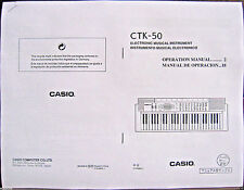 Casio CTK-50 Electronic Keyboard Owner's Users Operating Manual Booklet