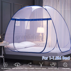 Folding Mosquito Net Zipper Single Door Netting Tent Mongolian Yurt Lace over