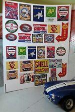 G Lgb 1:24 Scale Vintage Garage Classic Adverts Signs Railway Layout Diorama