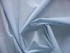 1 Lfm Baumwollstoff 3,10€/m²  klein kariert hellblau/weiß reine Baumwolle Q27