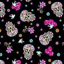 Día de los muertos Negro Esqueleto para Fiesta de Halloween de Material Tela Algodón Craft