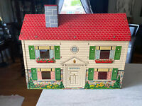 Vintage 1940/50s Two Story Tin Litho Doll House