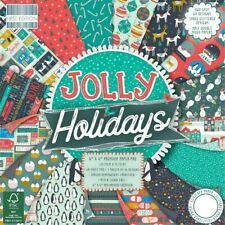 """First Edition ~ 6x6"""" Paper Pad ~ 48 x 200gsm sheets ~ Jolly Holidays"""