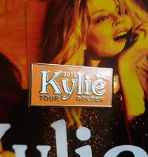 kylie minogue GOLDEN TOUR 2018 'ALBUM COLOUR ORANGE  METAL PIN BADGE 'VERY RARE'