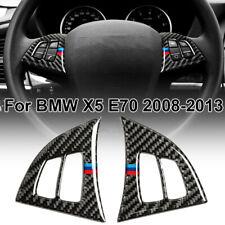Für BMW X5 E70 2008-2013 Lenkrad Knöpfe Rand Schwarz Satz Teil Auto