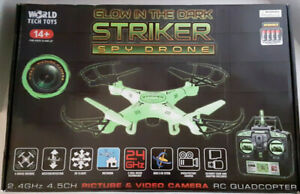 "Glow in the Dark ""STRIKER"" Spy Drone, Great condition, in box."