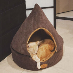 Pet Dog Cat Bed Tent House All Seasons Bed Dirt-resistant Soft Yurt Bed