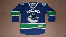 Vancouver Canucks Blue Reebok Youth Size Small/Medium NHL Hockey Jersey
