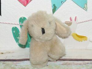 "Applause Toby Tan Beige Puppy Dog Plush Stuffed Mini Toy 12202 7"" Vintage 1987"