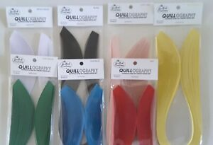 """Quilling Paper QUILLOGRAPHY CARD Stock 7 Colors 2 Pick From 50 strips 1/8"""""""