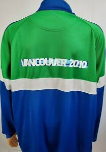 Official 2010 Vancouver Winter Olympics Long Sleeve 1/2 ZIP Pullover Jacket 2XL