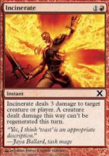 4x Incinerate NM-Mint, English 10th Edition MTG Magic