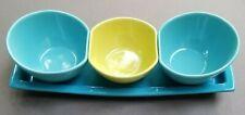 TAG Domo Serving Set Tray and bowls Blue Green Relish Salsa Server