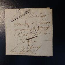 FRANCE MARQUE POSTALE LETTRE COVER DEB 2 CHÂTEAU THIERRY 1822 ROUGE AU VERSO
