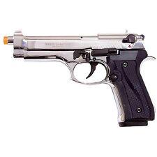 Ekol Jackal Dual Automatic Nickel Finish 9mm PAK Front Venting Prop Pistol Gun
