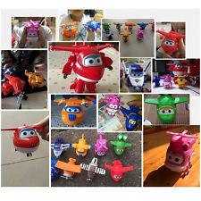 8Pcs TV Animation Super Wings Transforming Plane Mini Toys Characters kids NEW