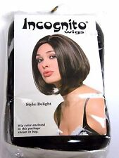 Brown Incognito Bob 50's Women's Wig Halloween Costume Trick Or Treat Party