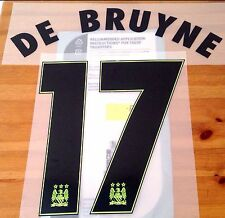2015-16 Manchester City UCL Troisième Chemise De Bruyne #17 sportingid Name Number Set