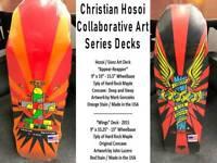 TWO Christian Hosoi Skateboard Decks - Guest Artists Mark Gonzales & John Lucero