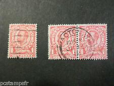 GB GRANDE-BRETAGNE, ROYAUME-UNI, 1911, TP 130 et 132, GEORGE V oblitéré VF stamp